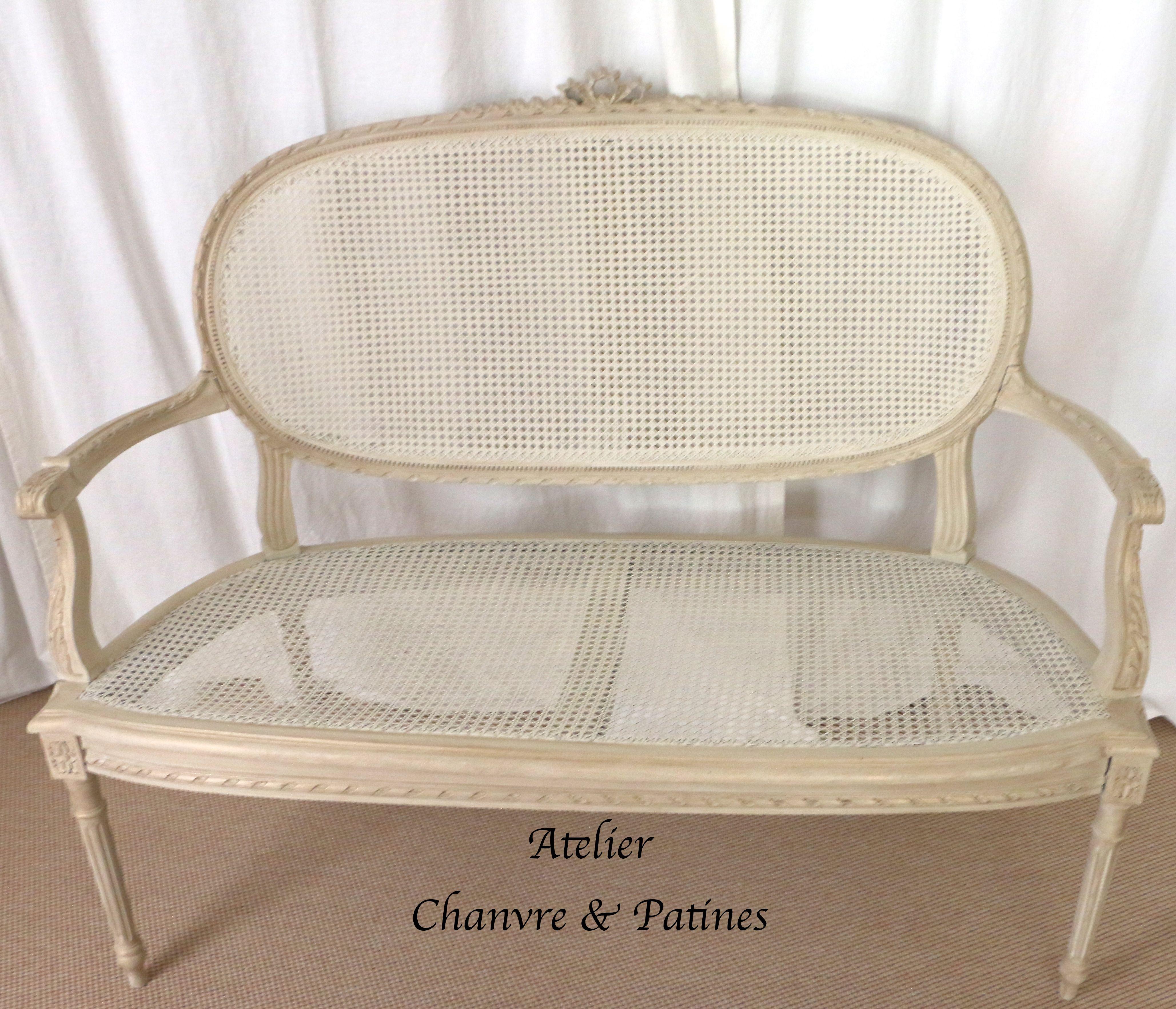 Atelier Chanvre Patines Banquette Cannee Louis Xv Fauteuil
