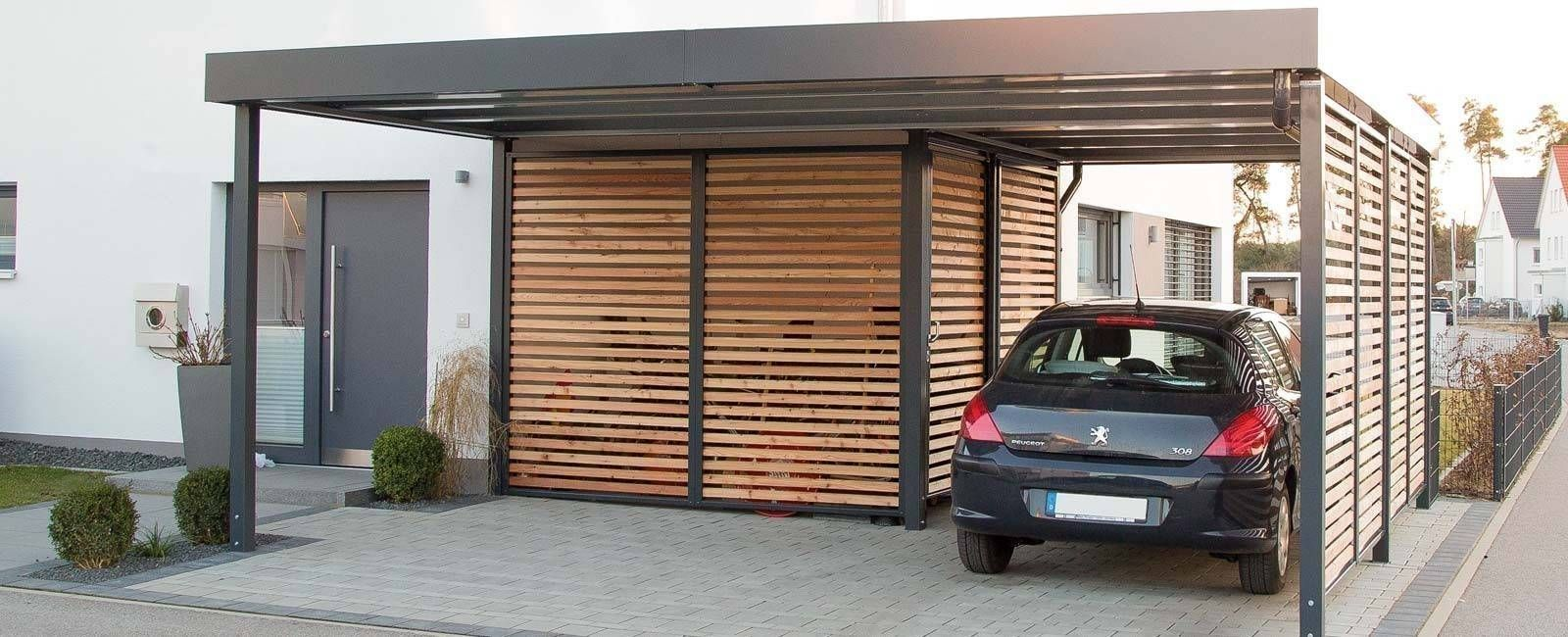 carport mit integriertem ger teraum moderne garage schuppen von haus pinterest carport. Black Bedroom Furniture Sets. Home Design Ideas