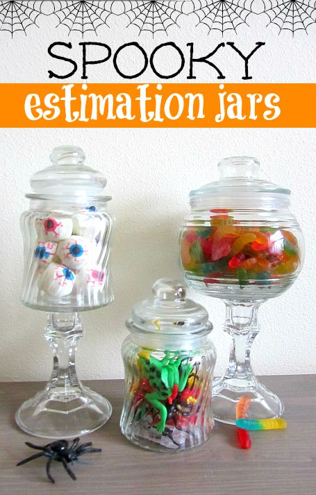 Spooky Estimation Jars No Time For Flash Cards Halloween Activities For Kids Halloween Theme Preschool Halloween Math