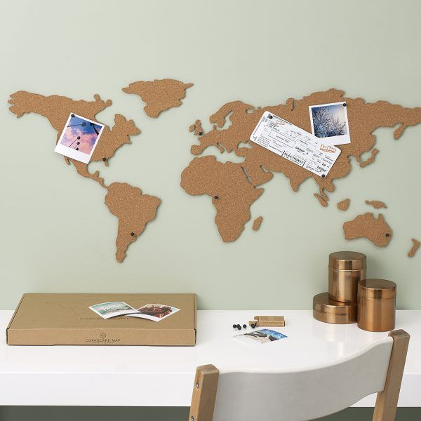 Pin by pooja gaba on corkboard world map pinterest cork map corkboard map is the perfect way to display photos postcards tickets or any travel memories by pinning on the cork map or the world gumiabroncs Images