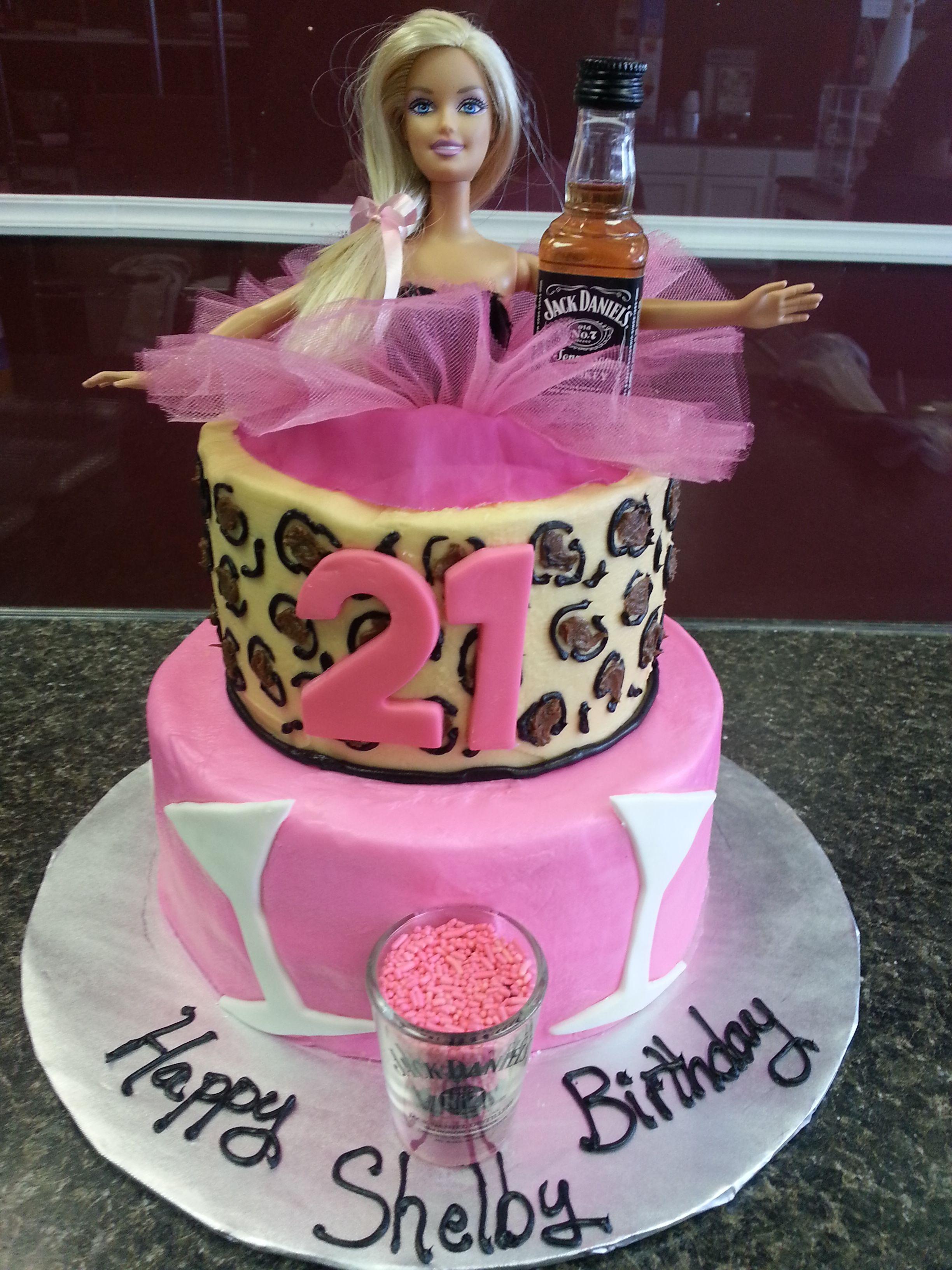 Barbie 21 Cake Food Pinterest 21st Cake Cake And Foods