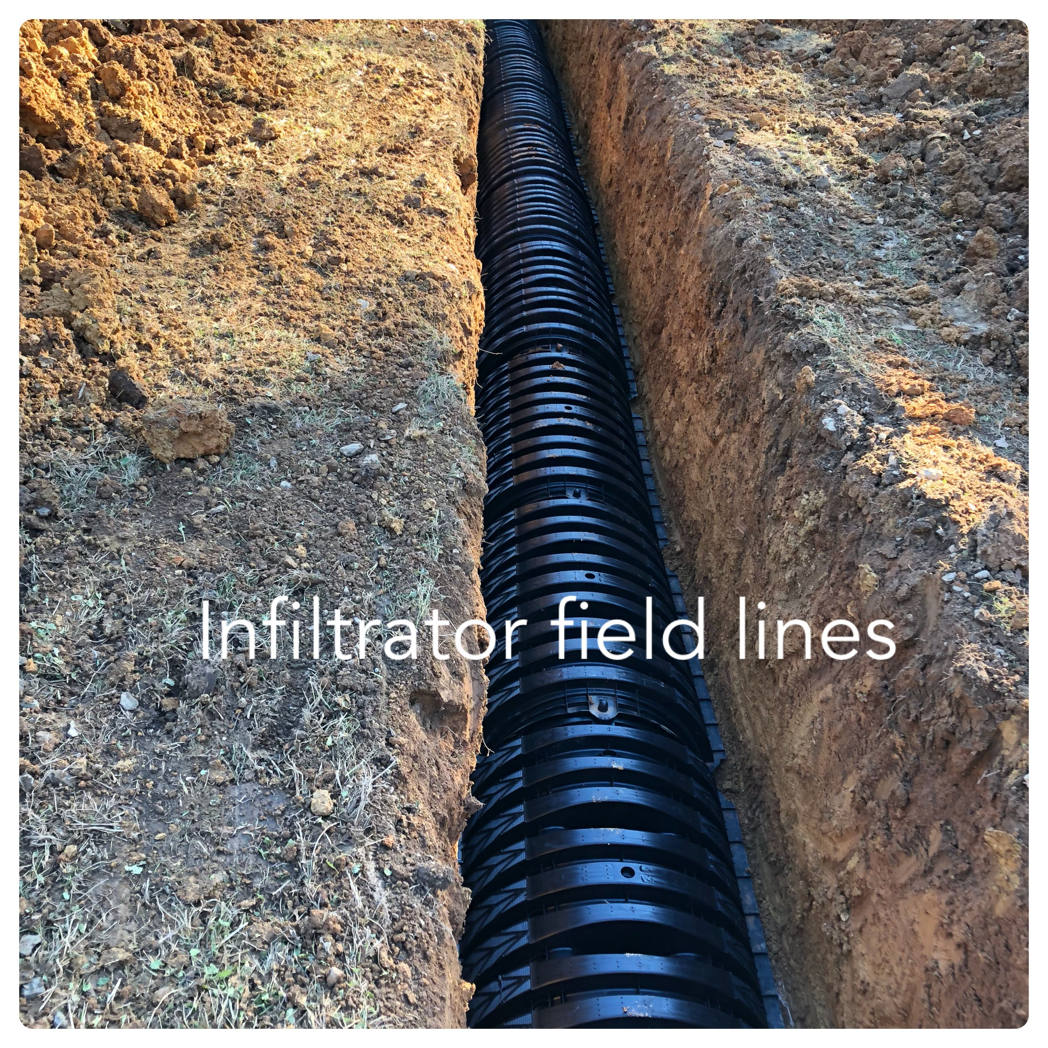 The field lines we installed for a customer 250 foot