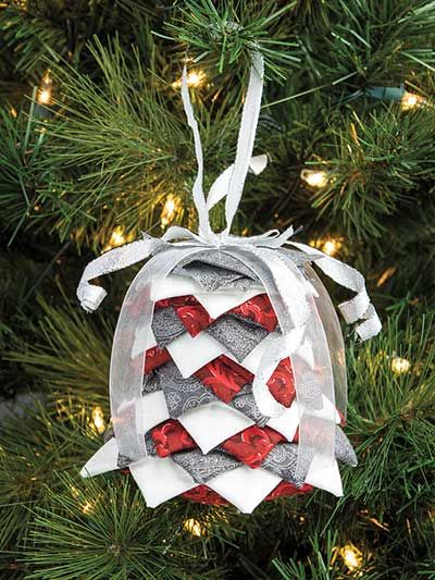 Silver Bells Decorations Crafts  Silver Bells Nosew Ornament Pattern Or Styrofoam Bell