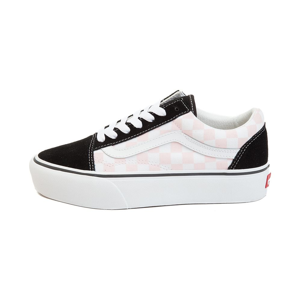 32ee4a102df5 Vans Old Skool Chex Platform Skate Shoe - Black White Pink - 497169 ...