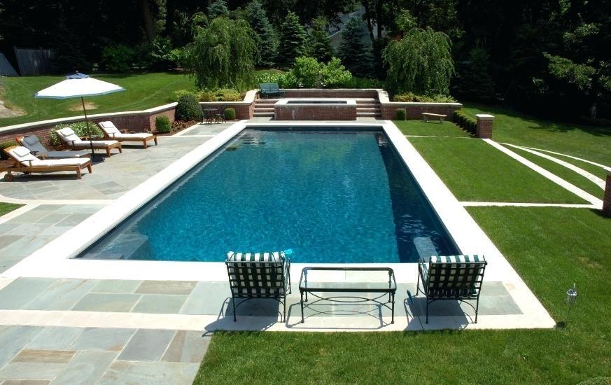 Rectangle Pool Small Rectangular Inground Pool Small Fiberglass