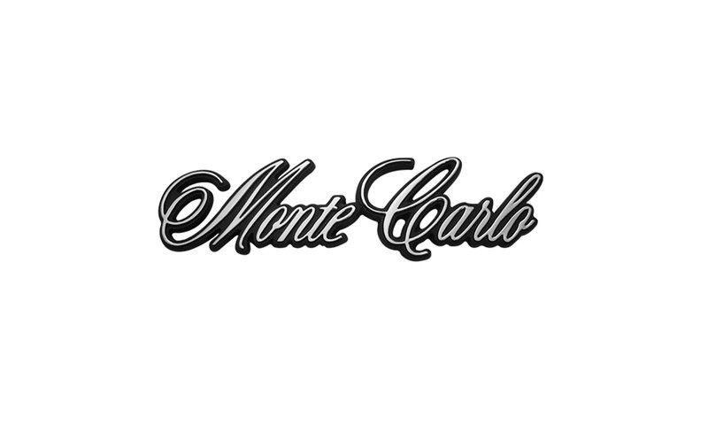 71 Monte Carlo BY CHEVROLET Rear Body Emblem