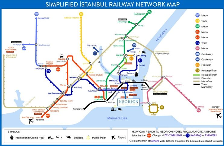 Istanbul metro and tram map Maps Pinterest City