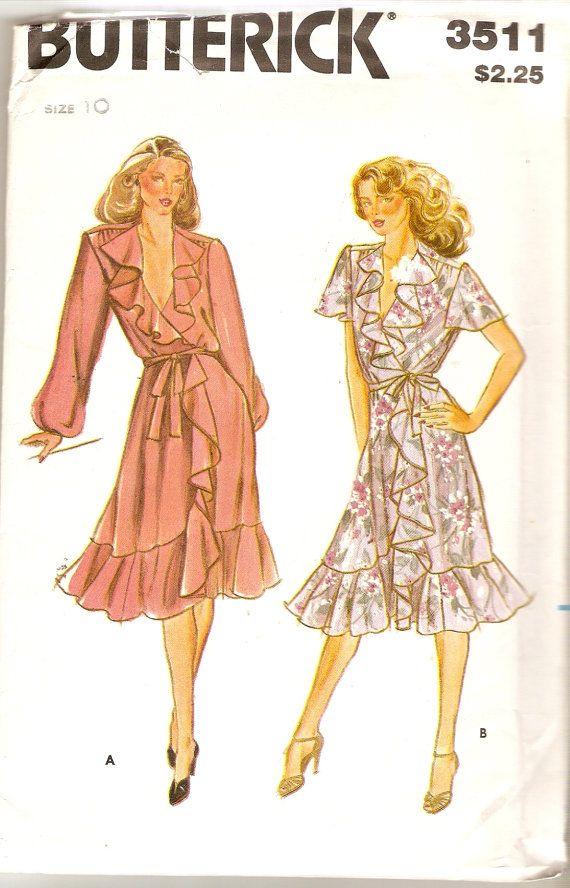 Misses Front Wrap Dress Pattern Boho Dress by CherryCorners, $10.00 ...