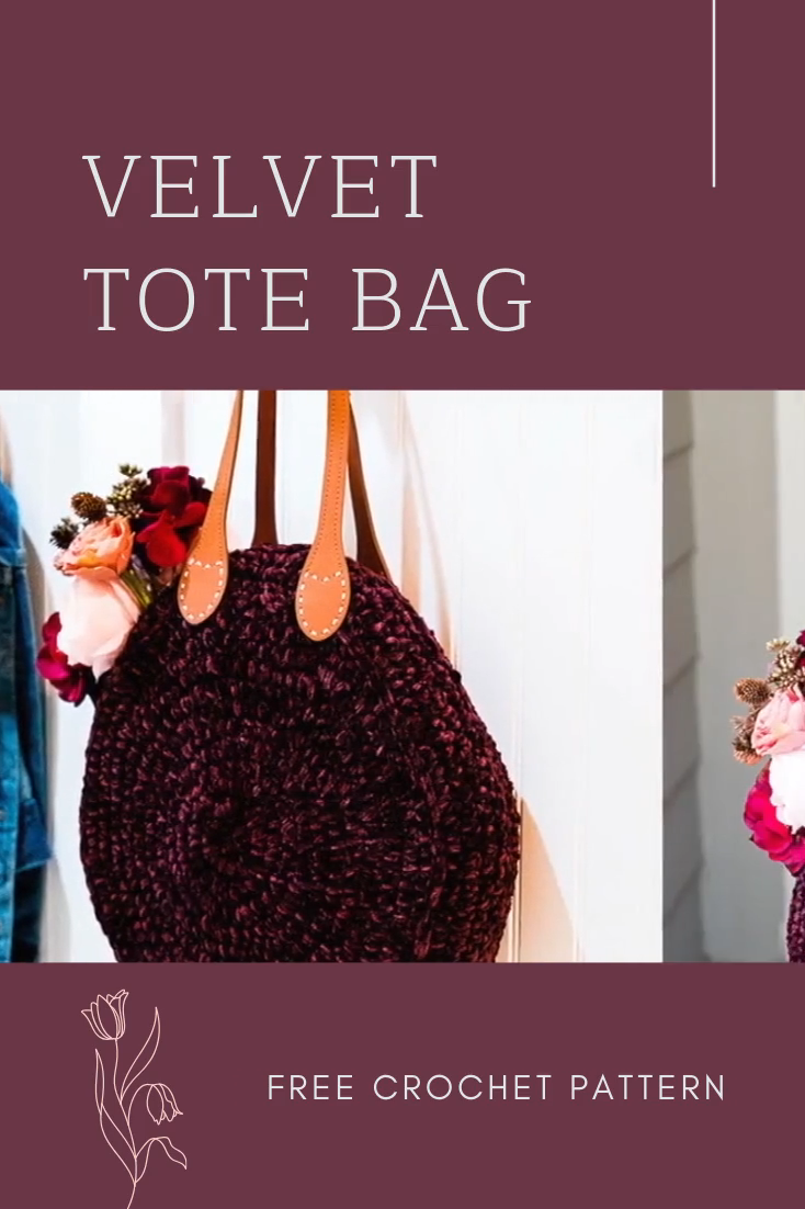 Photo of Crochet Velvet Tote Bag – free pattern