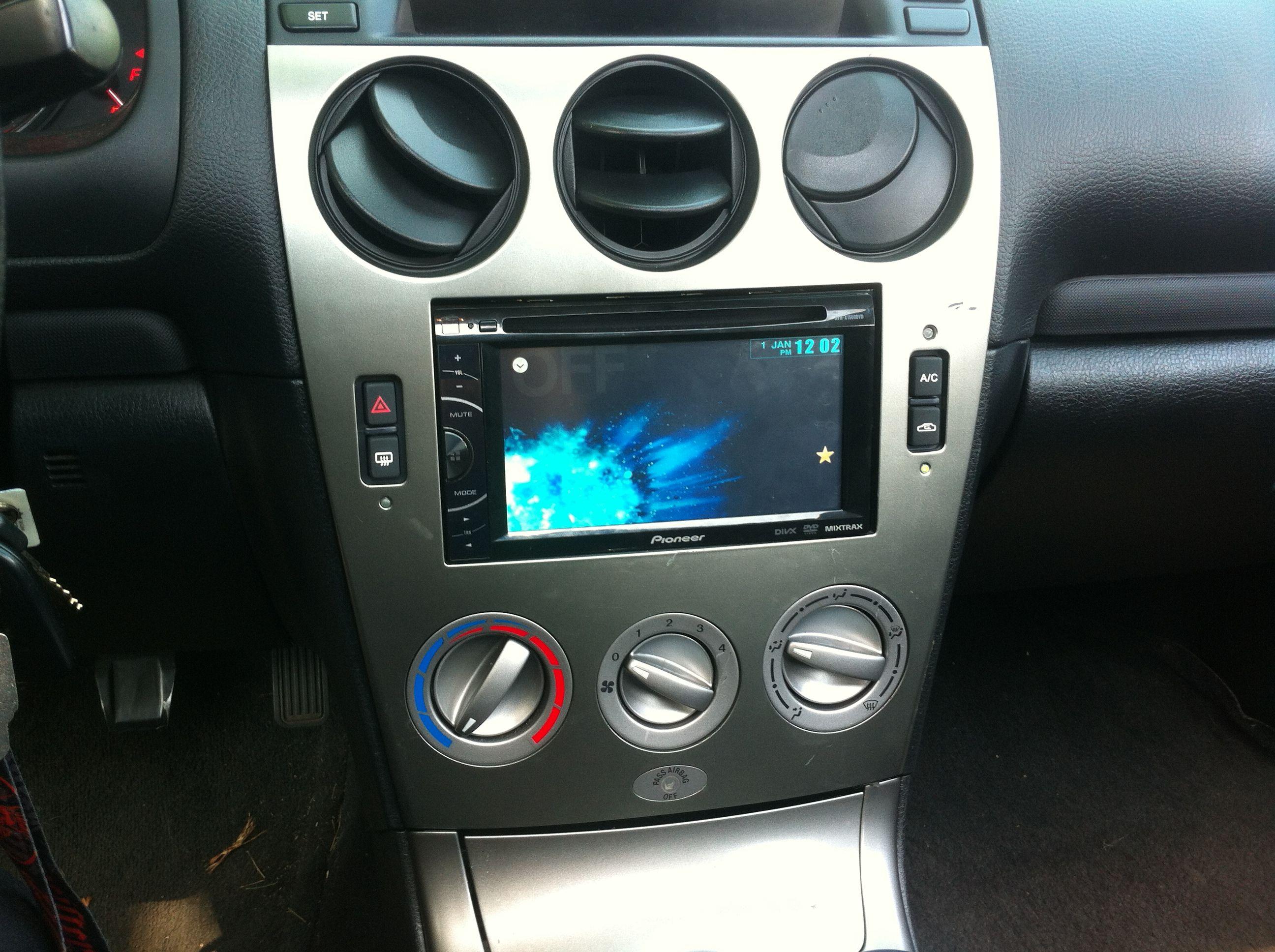 Mazda Interior Trim Double Din Aftermarket Radio Pioneer Touch Screen