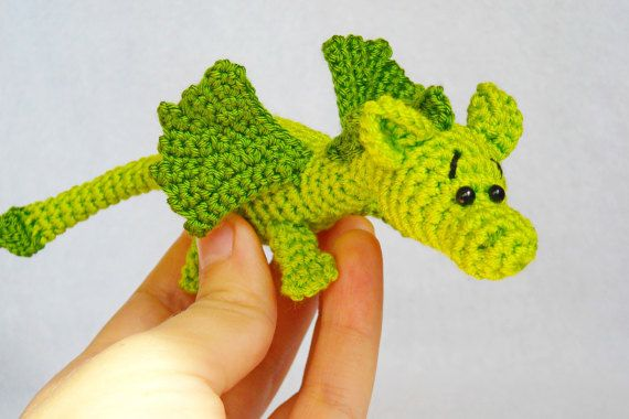 amigurumi dragon crochet dragon stuffed animal dragon Knitted dragon ...