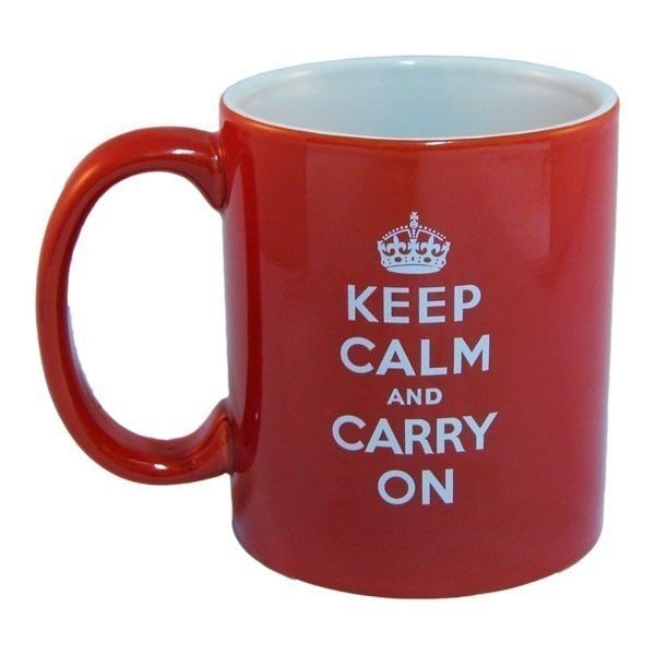 Keep Calm and Carry On Riding Mug