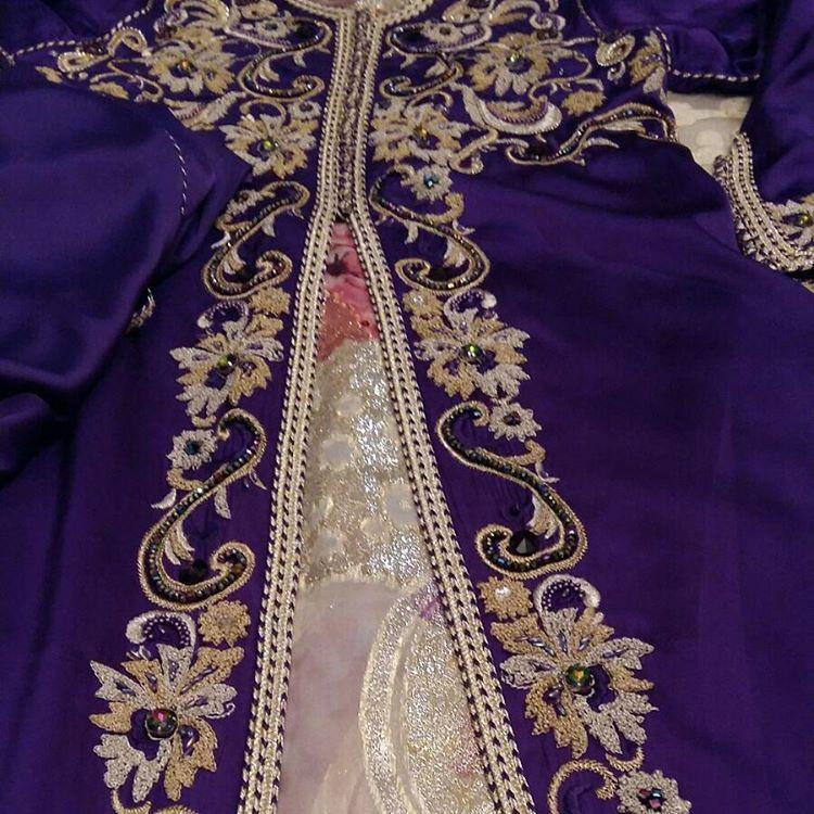 قفطان مغربي للطلب On Instagram قفطان فستان دراعات السعودية فاشن ماركات قماش البحرين الإمارات قطر Embroidery Fashion Detail Moroccan Caftan Moroccan Fashion