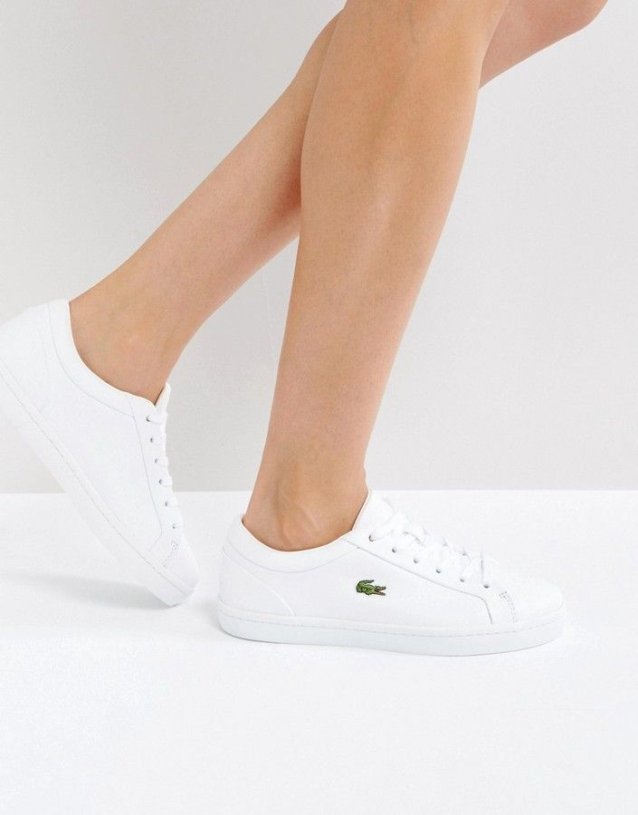 8e9697362ae Lacoste Straightset Lace 317 Sneakers In White