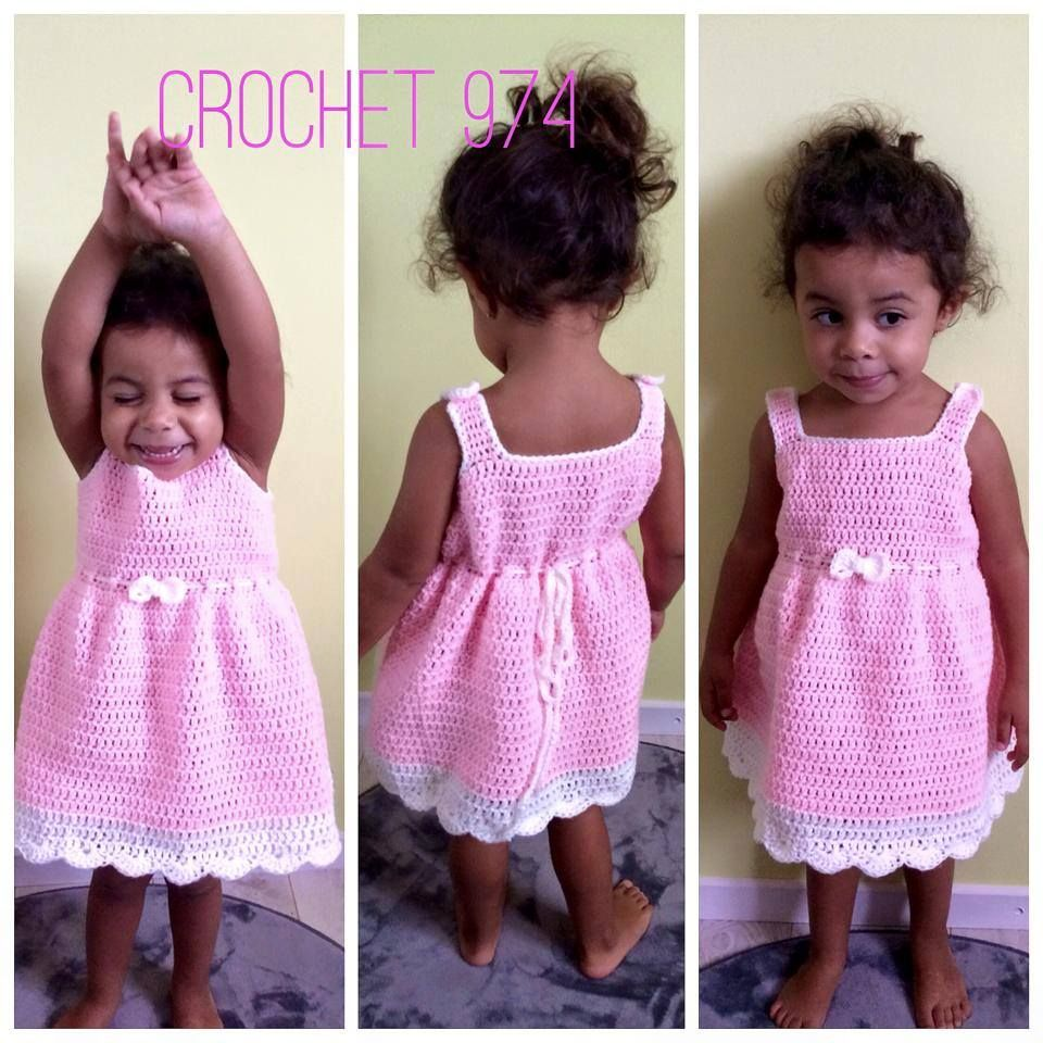 Free Crochet Pattern: Summer Peach Toddler Dress | crochet ...