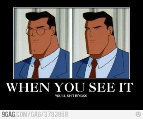 Just Clark kent .... wait ... WHAT !!! (With images) | Cartoon ...