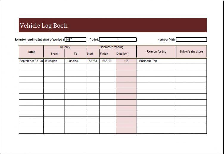 Free 16 Sample Daily Driver Log Book Templates Excel124 Exercise Log Book Template Pdf In 2021 Book Template Excel Templates Workout Log Book