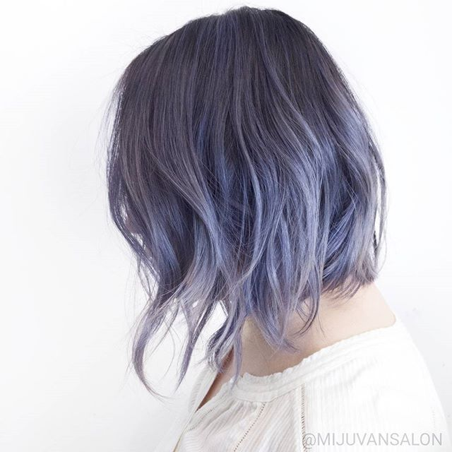 Textured Layers + Metallic Blue Ombre.  #mijuvansalon #dearmiju #neumabeauty #neuma
