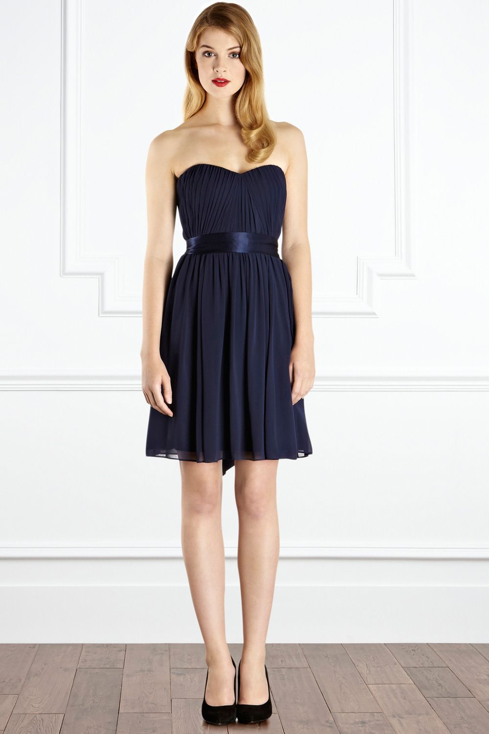 Midnight blue bridesmaid dress tillia coast bridesmaids