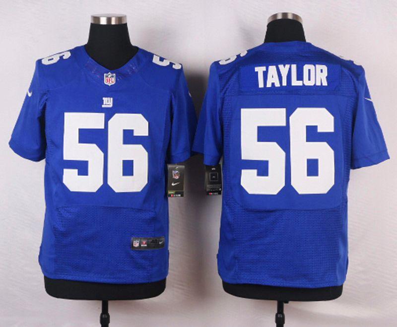 promo code 4d73b 71fa4 Men's NFL New York Giants #56 Taylor Blue Elite Jersey   NFL ...