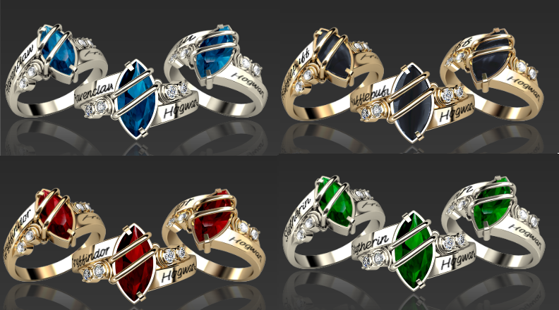 Hogwarts Harry Potter Ravenclaw House Ring Jewelry Noble HP Wizarding World