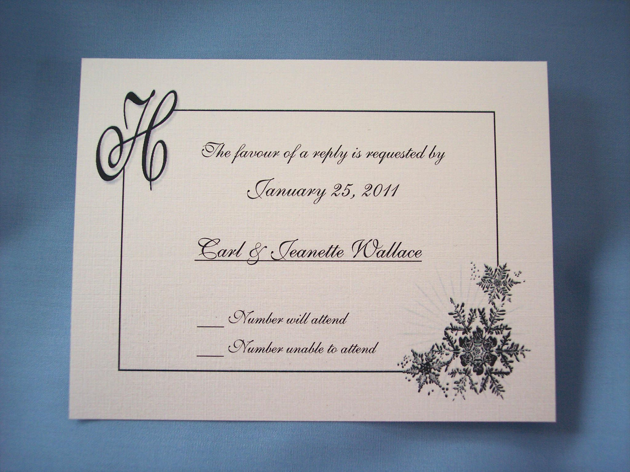 Wedding Invitation Invitations With Response Cards Free For You