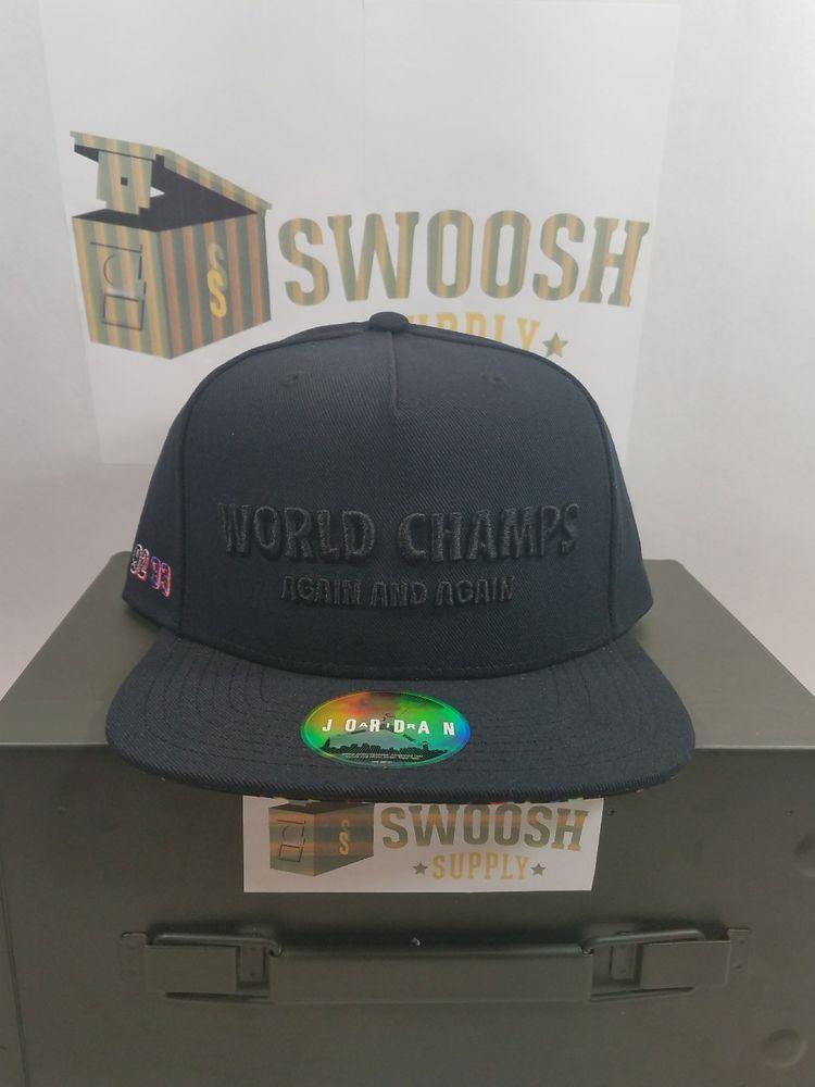 NIKE JORDAN WORLD CHAMPS CELEBRATION PACK CONFETTI 91 92 93 3PEAT HAT  789501 010  Nike  SNAPBACK 83f88ab4c86