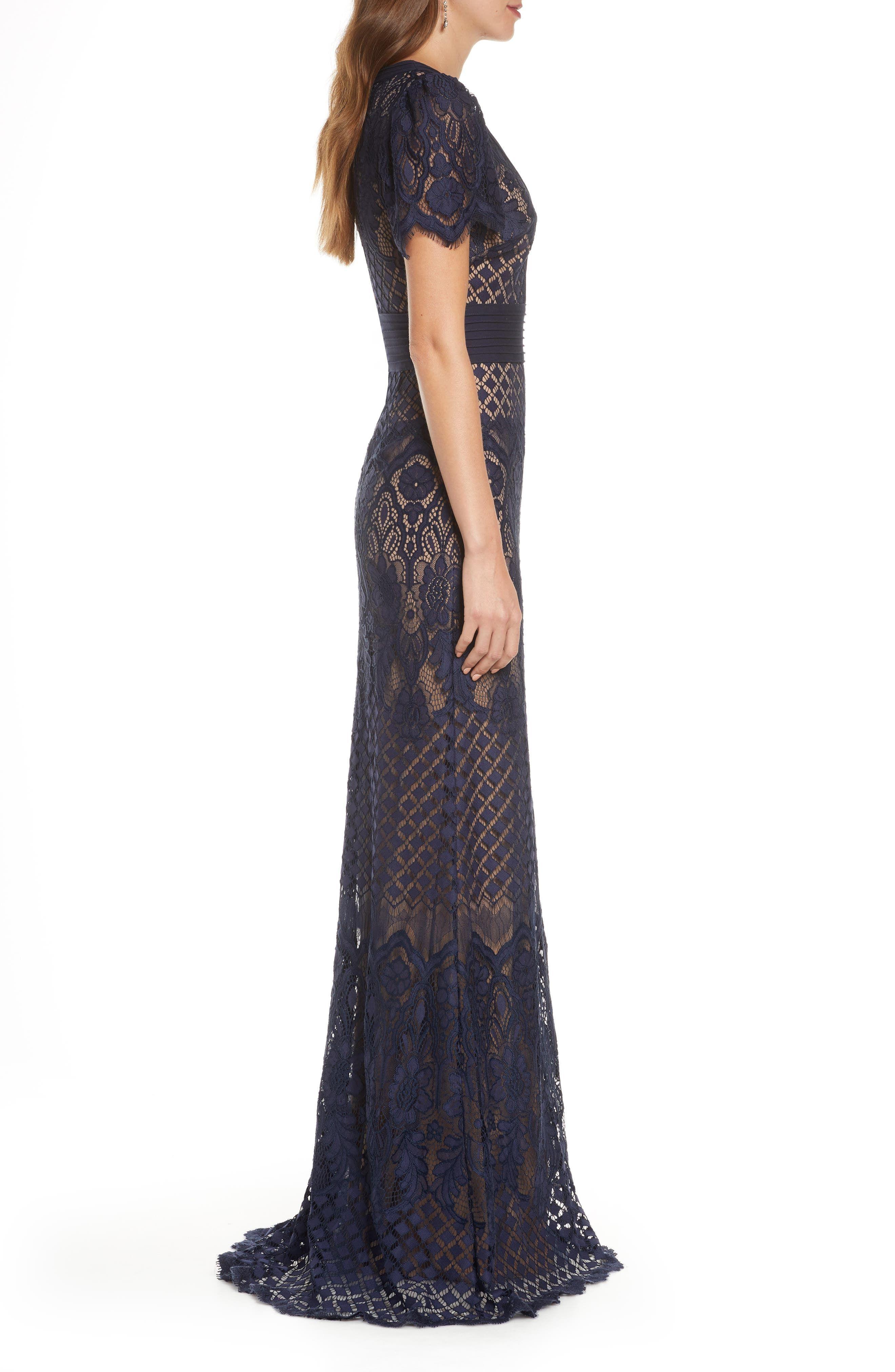 Tadashi Shoji Embroidered Lace Evening Gown Nordstrom In 2021 Evening Gowns Lace Evening Gowns Gowns [ 4048 x 2640 Pixel ]