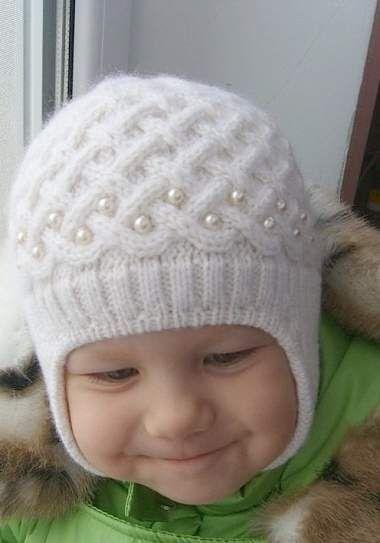 схемы вязания спицами шапочки для новорожденных вязание зимние