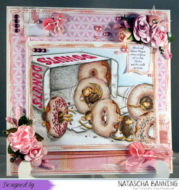 Donuts Party mit House Mouse Design: http://nataschas-blog.blogspot.de/2015/10/house-mouse-and-friends-205.html