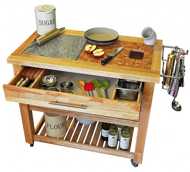 chris chris pro chef food prep station natural or espresso