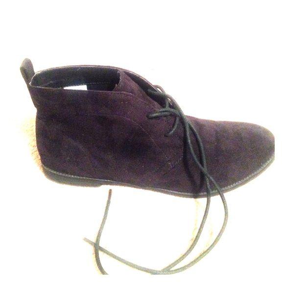 Z London Black boots women's size 9 Brand new worn once black ankle booties suede like women's size 9 Z london Shoes Ankle Boots & Booties