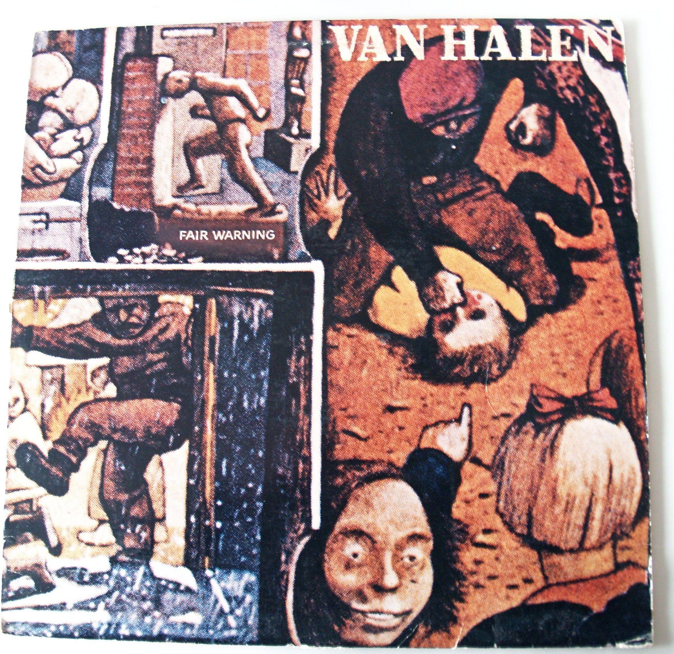 Van Halen Fair Warning Van Halen Fair Warning Album Cover Art Van Halen