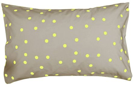 fluro yellow random spot pillowcase ++ castle
