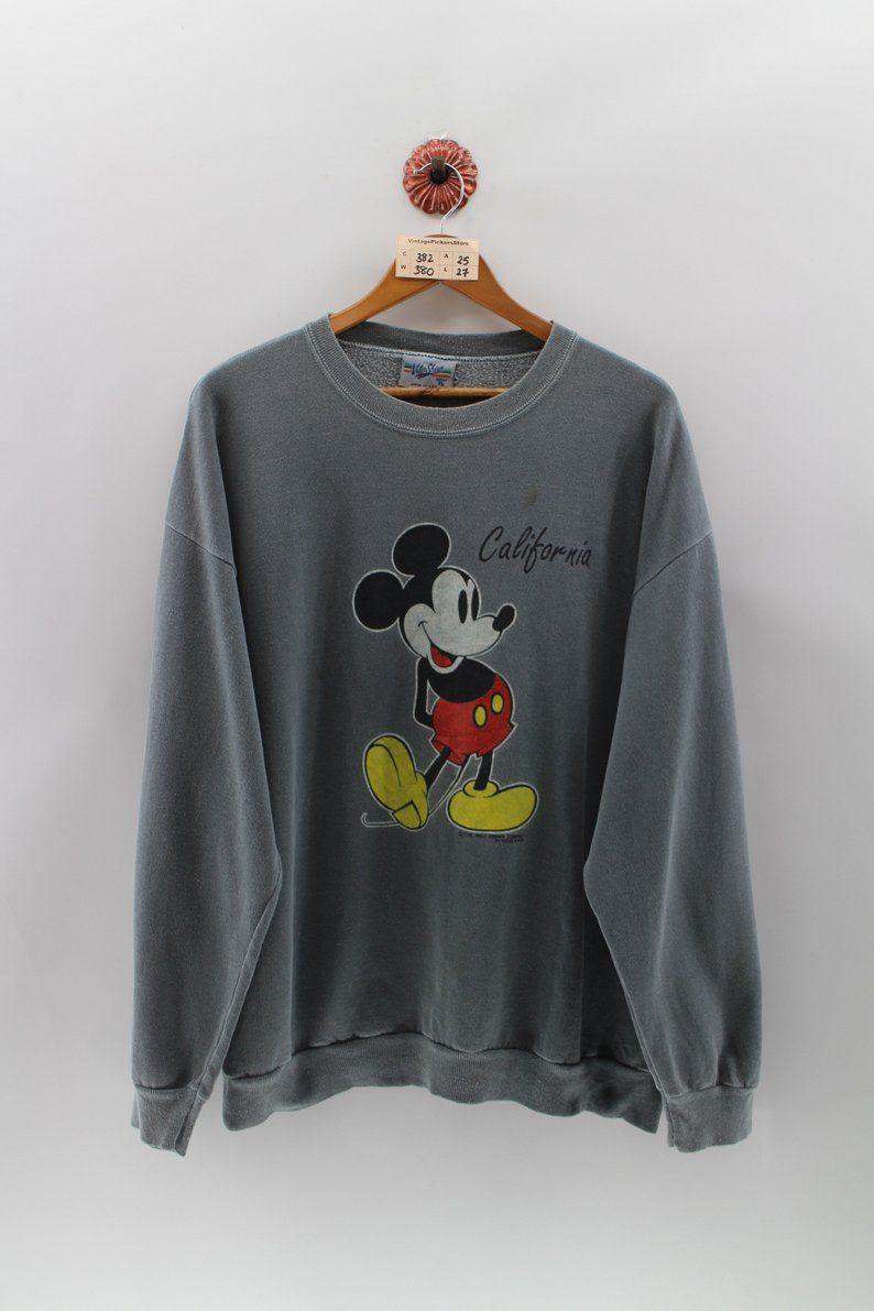 Mickey Mouse Cartoon Pullover Jumper Xlarge Vintage 90 S Etsy Mickey Mouse Sweatshirt Disney Sweatshirts Mickey Mouse Cartoon [ 1191 x 794 Pixel ]