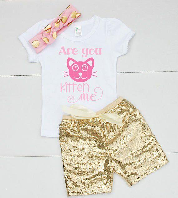 33f0c56276b Are You Kitten Me Shirt. Girls 3rd BirthdayBirthday OutfitsBirthday  ShirtsOutfits For GirlsCute Summer ...