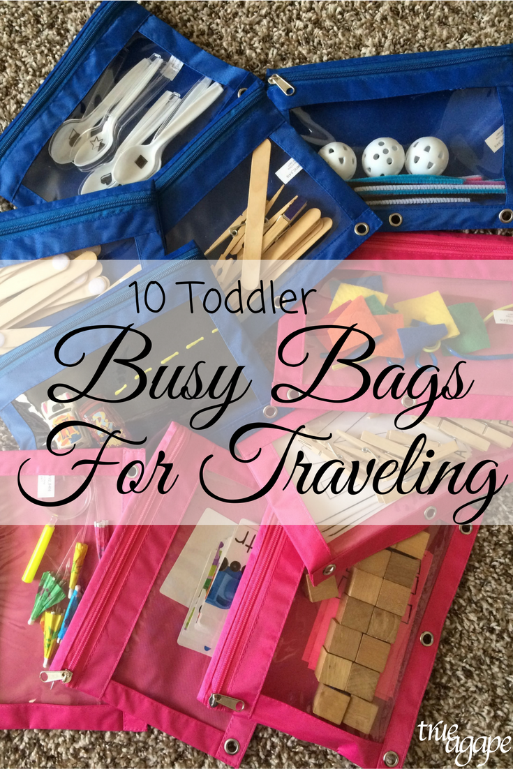 10 Toddler Busy Bags For Traveling Toddler Toddler