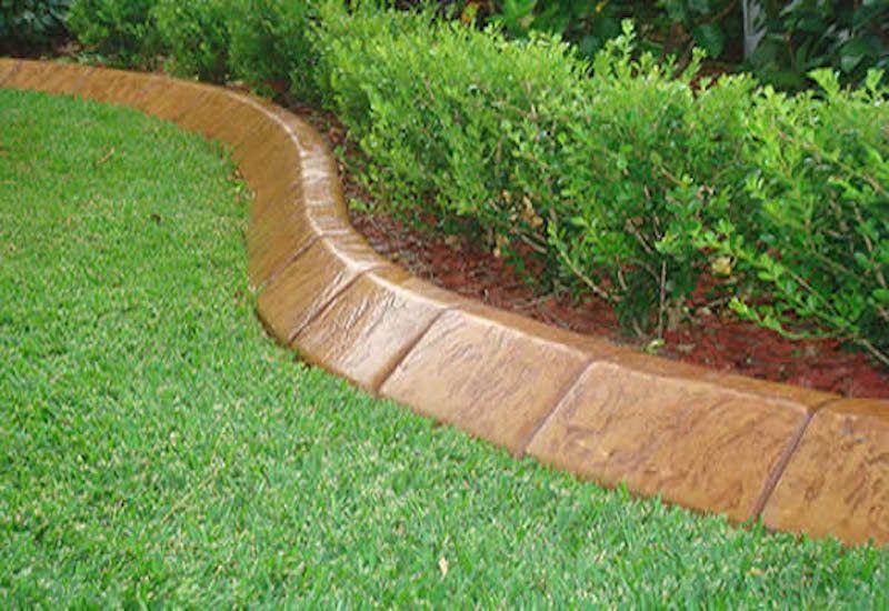 10 Solid Garden Edging Ideas With Bricks Garden Lovers Club Concrete Garden Edging Garden Edging Ideas Australia Concrete Garden
