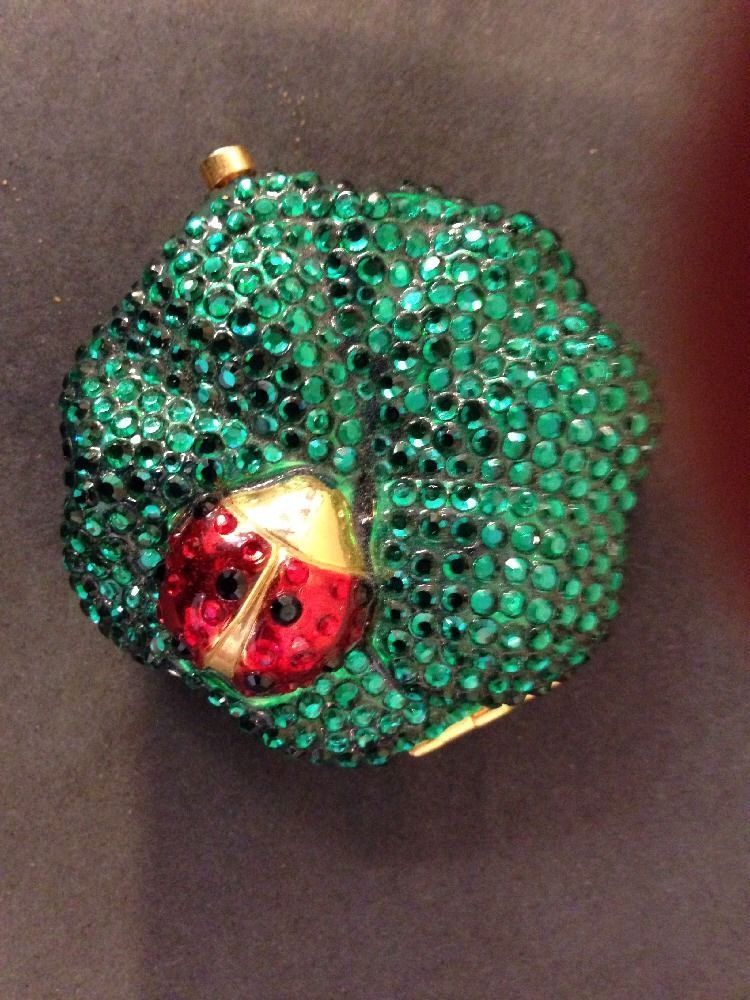 Estee Lauder Green Cystals and Lady Bug Compact Rare 2000