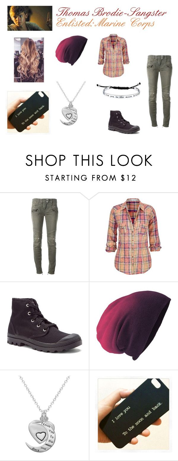 """""""Thomas Brodie-Sangster (7)"""" by smmashley ❤ liked on Polyvore featuring Paul Brodie, Balmain, maurices, Palladium and La Preciosa"""