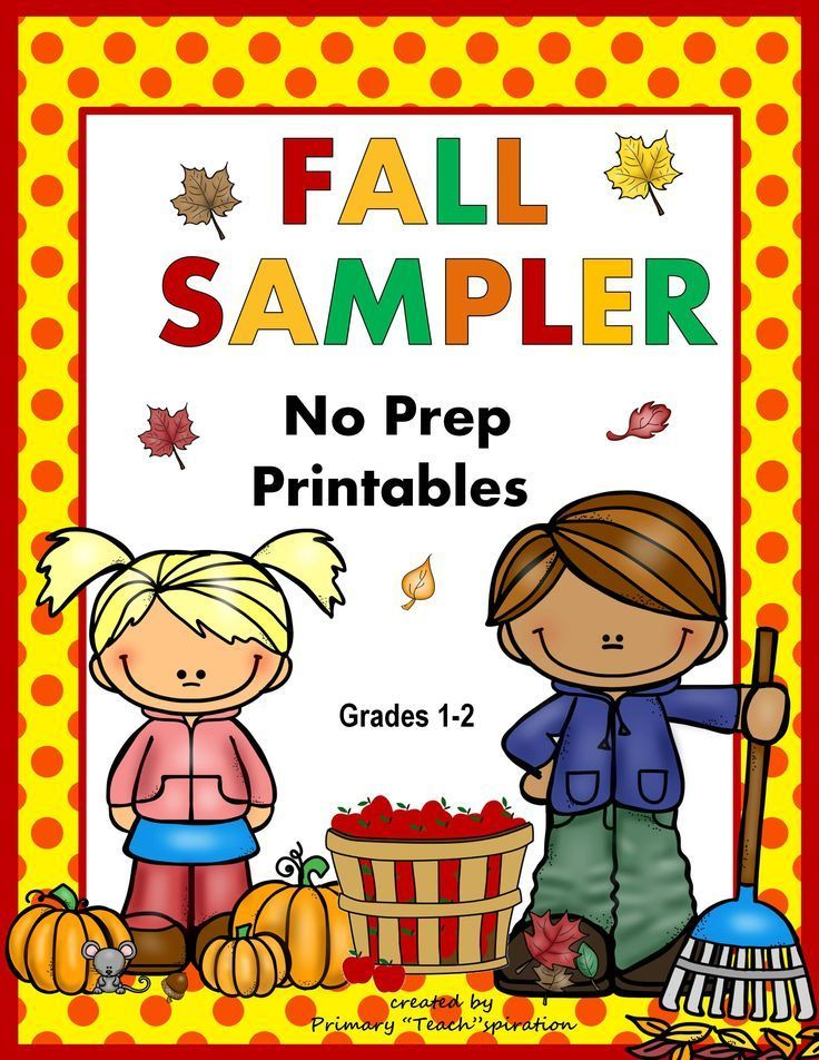 Fall Math and Literacy Sampler - 1st & 2nd Grades | TpT FREE LESSONS ...