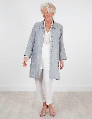 Plus size Jubilee Silver Linen Mix Jacket, Tetbury Linen Mix Vest And Rossett Linen Mix Trouser