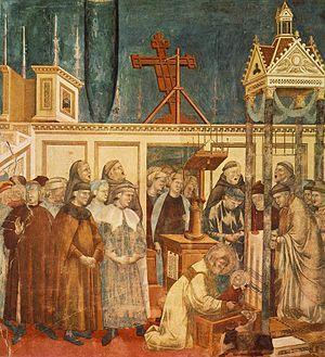 Giotto - Presepe di Greccio, 1290-95; affresco, Assisi, San Francesco, Basilica superiore.