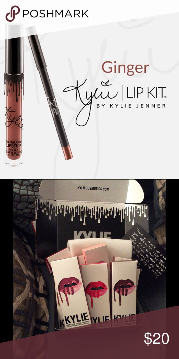 Ginger Kylie cosmetics lip kit Unopened Kylie lip kit in Ginger Kylie Cosmetics Makeup Lipstick