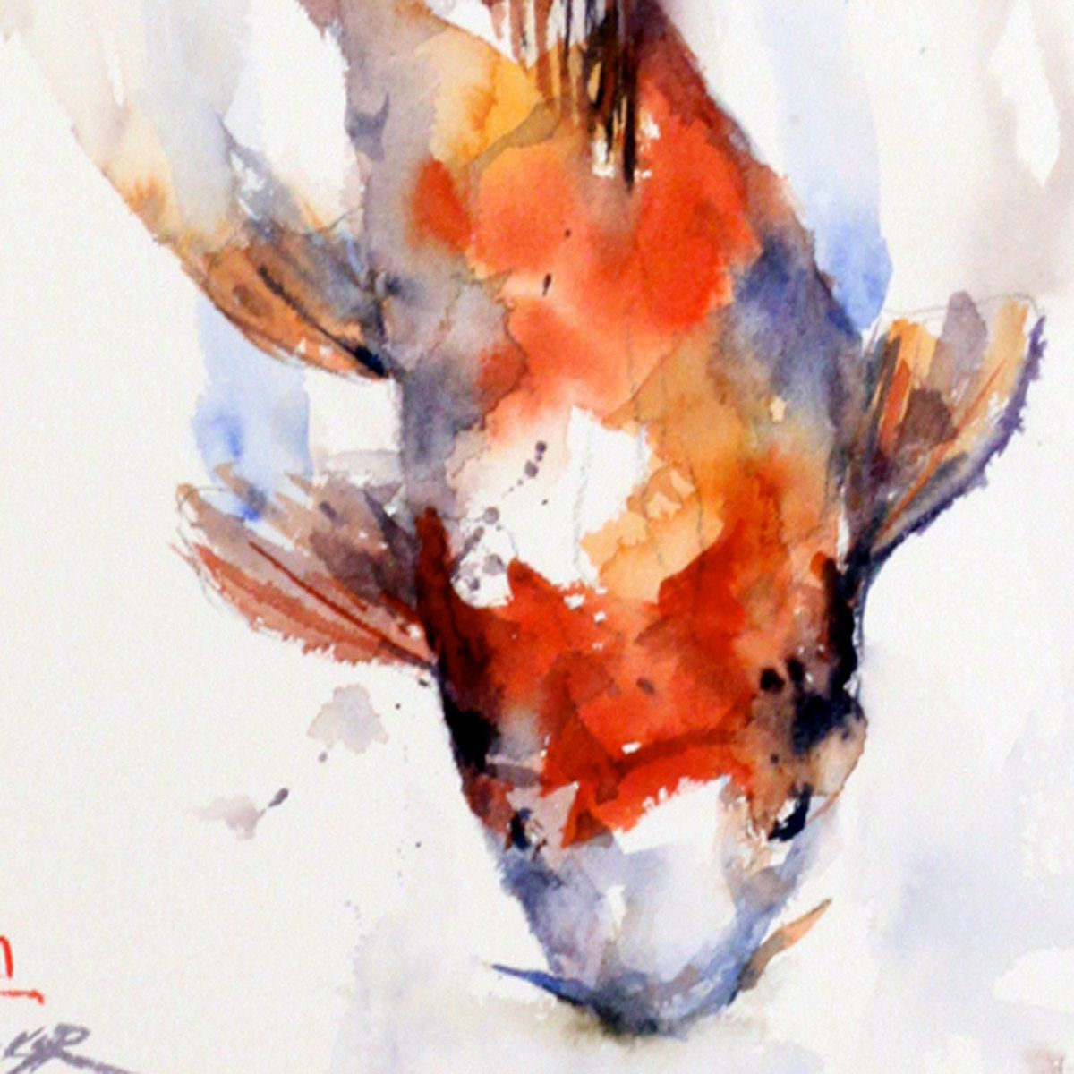 E colour in water pinterest koi for Coy fish painting