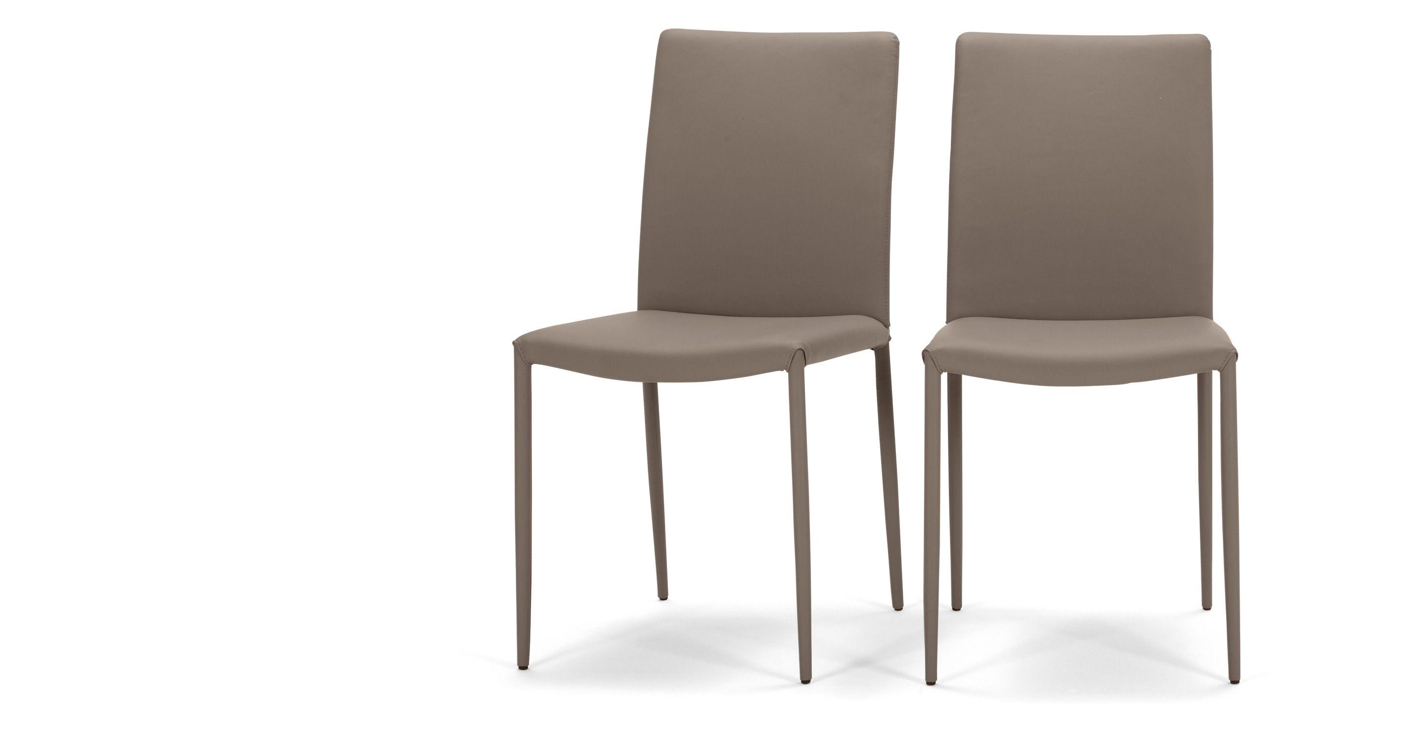 Großartig Esszimmerstühle Leder Das Beste Von 2 X Braga Esszimmerstühle, In Lehmbraun -