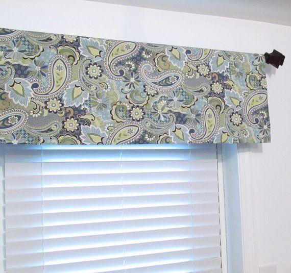 Blue Paisley Valance Bedroom Valance Living Room Curtain Kentshire
