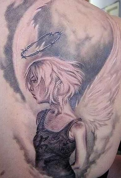 The 95 Best Guardian Angel Tattoos for Men Improb in 2020 ...