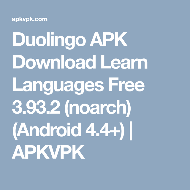 Duolingo APK Download Learn Languages Free 3 93 2 (noarch