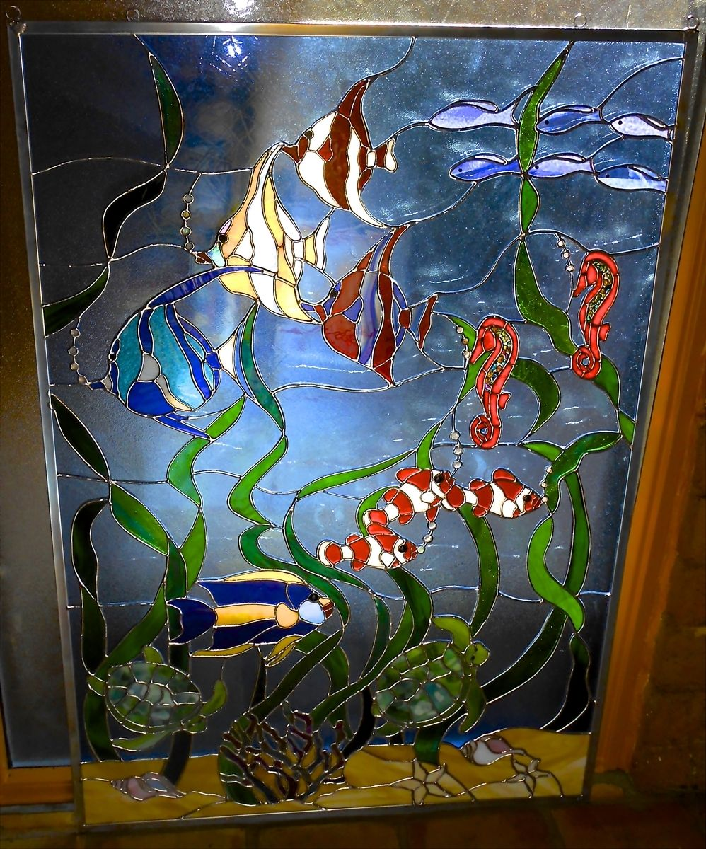 Tropical Aquarium. Tropical Aquarium Stained Glass ... 1b151f4d5